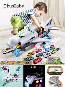 Toy Aircraft Airliner-Toy Plane Passenger Music-Lights Kids Large-Size Children's Simulation-Track-Inertia