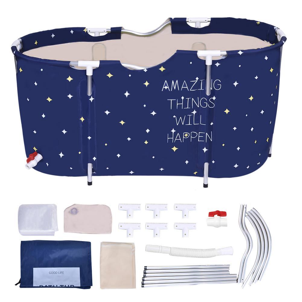 120x60x58cm conjunto de banheira portátil dobrável banheira balde kit para adulto família pvc beleza spa banheira banheira banheira banheira de banho do bebê balde