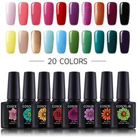 20 sztuk/zestaw 80 kolorowy żelowy lakier do paznokci zestaw Nail Art UV LED zestaw żelowy do Manicure długi trwały żel do paznokci zestaw Soak off lakiery