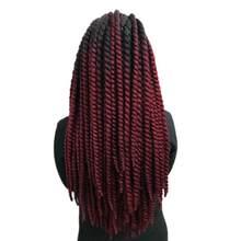 """Роскошные для плетения Предварительно скрученные синтетические волосы 120 г 12 прядей/шт. Растянутые длина 20-2"""" омбре Джамбо Гавана твист крючком косы"""