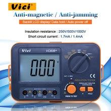 Vici VC60B+ цифровой измеритель сопротивления изоляции тестер Мегаомметр Омметр Вольтметр DVM 1000V 2G w/lcd подсветка
