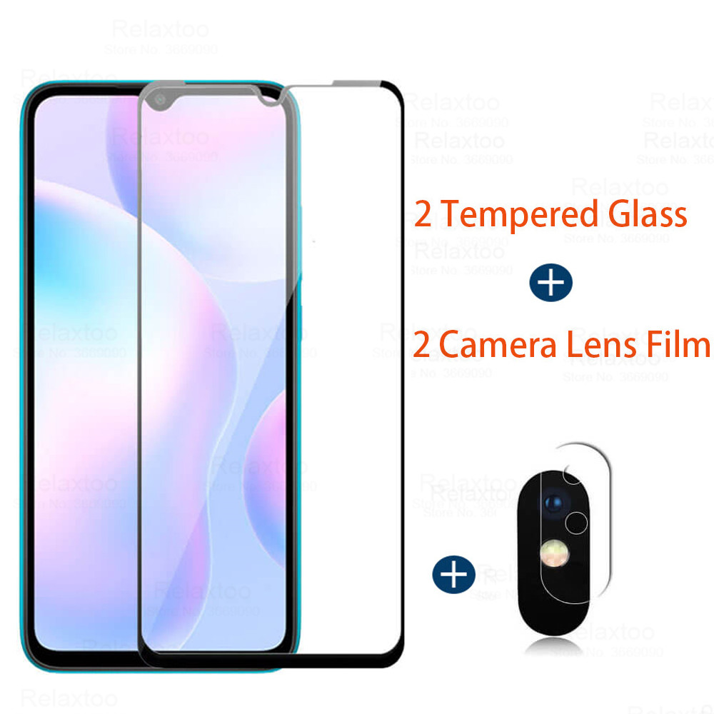 2PCS Glass for <font><b>Xiaomi</b></font> <font><b>Redmi</b></font> 9 Tempered Glass for <font><b>Xiaomi</b></font> <font><b>Redmi</b></font> 9A 9C <font><b>Note</b></font> 9S 9 Pro 8 <font><b>7</b></font> 8T 8A 7A Screen Protector <font><b>Camara</b></font> Lens Film image