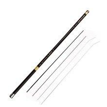 Stream Fishing Rods 8.0m-13m Carbon Fiber Telescopic Fishing Rod Hand Pole Feeder for Carp Fishing Tenkara Spare 4 tips J019 цена в Москве и Питере