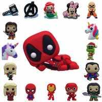 1PCS PVC Broschen Cartoon Abbildung Deadpool Einhorn Avenger Icons Pins Abzeichen Pins Taste Abzeichen Rucksack Kleidung Hut Decor