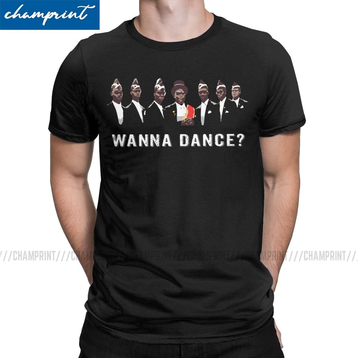 Ghana Funeral Dance Team T-Shirts Men Coffin Dance T Shirt 2020 Funny Meme Funeral Dance Ghana Dancing Pallbearers Clothing