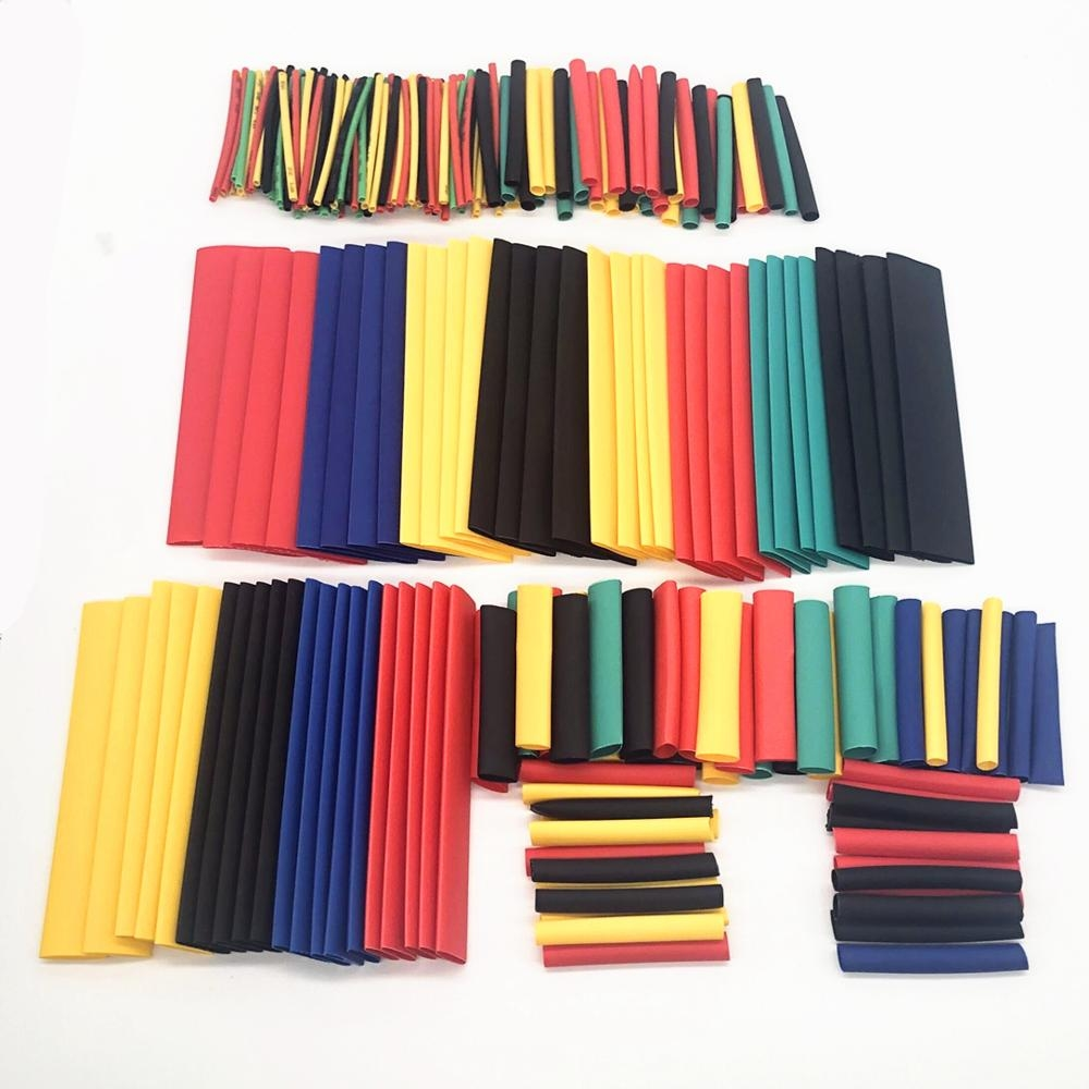 328pcs Set Polyolefin Heat Shrink Tube Heat Tubo Shrinkable Wire Cable Insulated Sleeving Tubing Electronic Parts