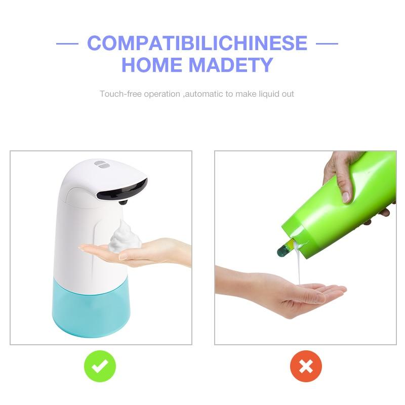H3c7bb86ded6543debc7d774cba3eeb76i 250ml Waterproof Foam Liquid Dispenser Automatic Soap Dispenser Sensor Touchless Hand Washer Soap Dispenser Pump