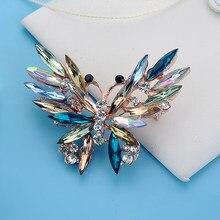 Rinhoo animaux naturels broche broches papillon broches pour femmes hommes bijoux cadeau mignon élégant accessoires de mode