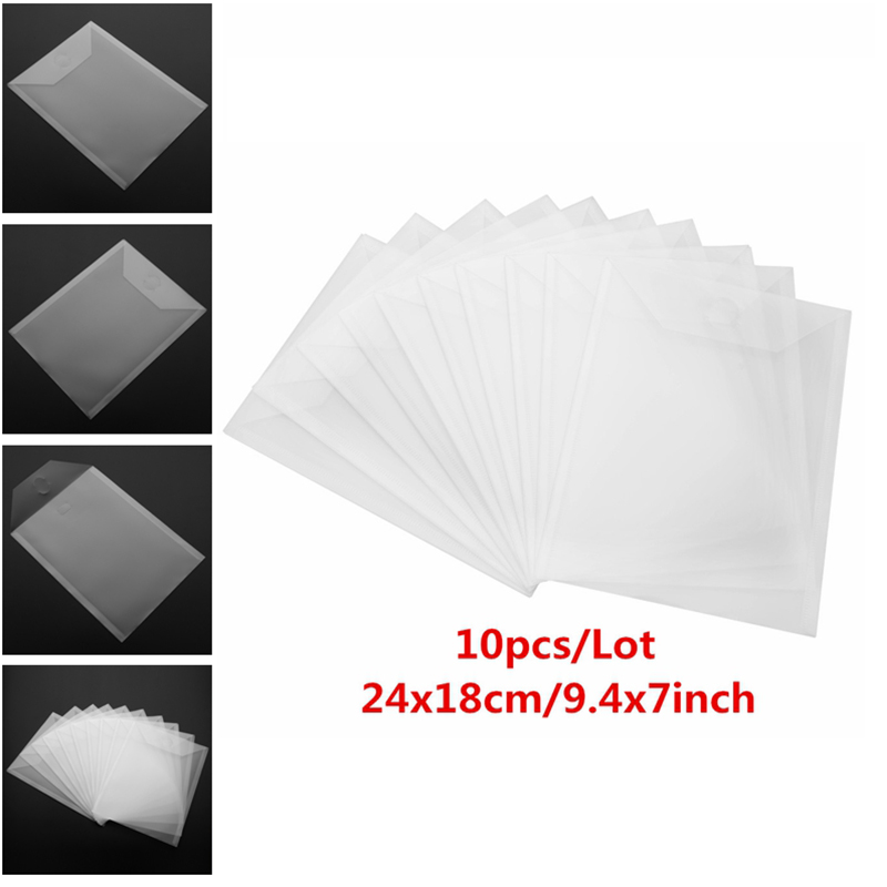 10pcs/Lot 2 Type Large Stamp & Die Storage Pockets PVC Plastic Sheet  For DIY Scrapbooking Shaker Cards Photo Frame