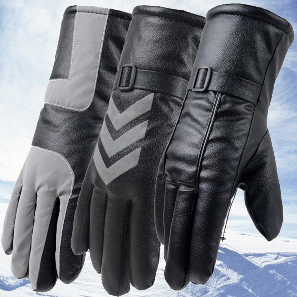 Womail 2019 New Fashion Full Finger Ski Gloves Men Unique Design Winter Gloves Warm Windproof Comfortable Ski Glove Leather