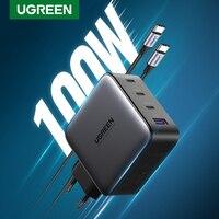UGREEN GaN 100W caricabatterie USB per tablet Macbook ricarica rapida per iPhone Xiaomi USB tipo C carica PD per caricabatterie telefono iPhone 12