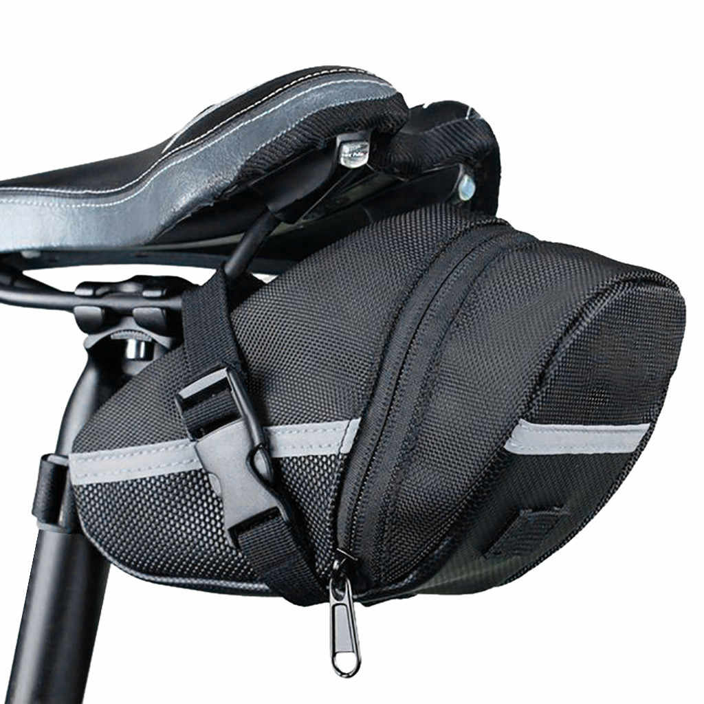 Bike Bicycle Saddle Bags Under Seat Waterproof Storage Tails Pouches Cycling Bag