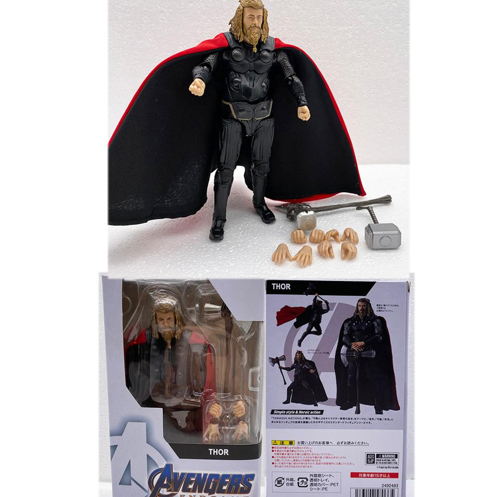 SHF Figure Endgame Infinity War 4 Marvel SHF Thor Figure Hero Thor Action Figure Figuarts Movie Model Toy Doll Gift image