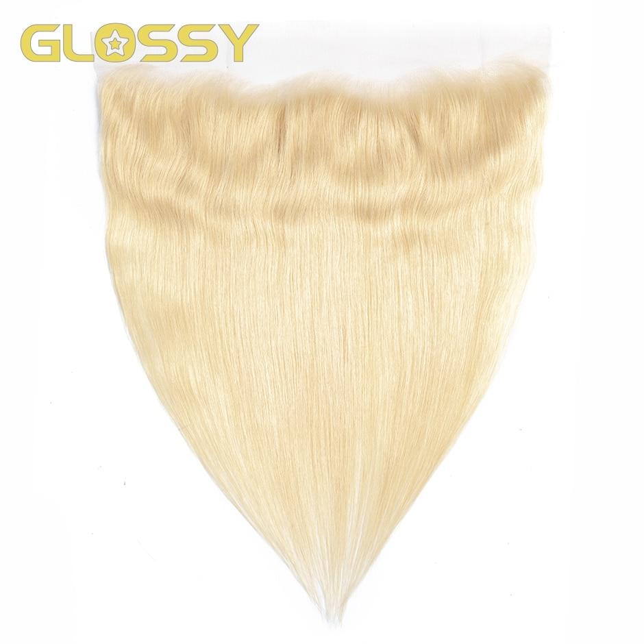 Глянцевая 613 медовая светлая кружевная фронтальная прямая 13x4 HD Прозрачная Кружевная застежка из человеческих волос от уха до уха Фронтальн...