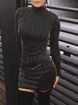 Hot Γυναικείο sexy Φόρεμα Μακρυμάνικο bodycon dress