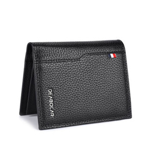 Image 5 - Youpin New Korean Casual Mens Wallet Business Stereo Multifunctional Luxury Pure Pu Leather British Folding Card Case