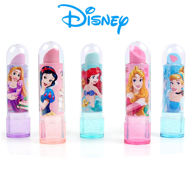 Disney Princess Lipstick Style Eraser Kawaii Eraser Student School Supplies Children's Gift Novelty Erasers