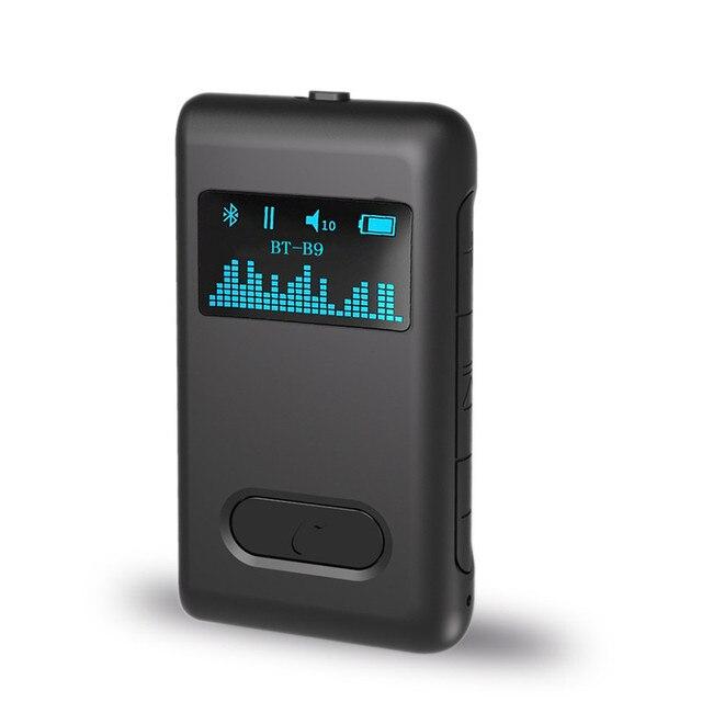 Auto ON Bluetooth 5.0 odbiornik wyświetlacz LCD 3.5mm AUX Jack RCA muzyka Stereo Adapter bezprzewodowy do głośnika samochodowy sprzęt Audio nadajnik