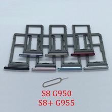 Phone SIM Card Tray Slot For Samsung S8+ S8 Plus G955F G955FD G955 Original New SIM Chip Micro SD Card Tray Holder Adapter
