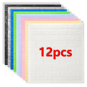 3D Wall Stickers Imitation Brick Bedroom Decor Panel Self-adhesive Wallpaper for Living Room Kitchen TV Backdrop Home Decoration