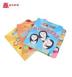 Libro infantil niños inglés cuento corto esquina redonda tablero de color libro Niños tabla libro impresión servicio