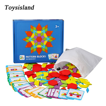 155pcs Montessori Toys Educational for Kids Building 3D Puzzle Creative Game Wooden Jigsaw