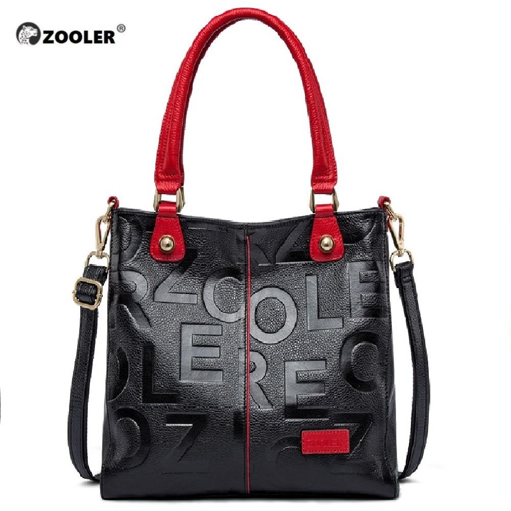 ZOOLER 2019 sacs à main de luxe femme sacs Designer sac en cuir véritable femmes sac à main en cuir de vache de haute qualité Mochila Feminina-in Sacs à poignées supérieures from Baggages et sacs    1