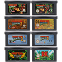 32 Bit Video Game Cartridge Console Card for Nintendo GBA Donke Kong Country English Language Edition