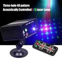 48 muster Projektion Lampe LED Bühne Laser Lichter Sound Aktiviert Auto mit Fernbedienung J8 #3-in Bühnen-Lichteffekt aus Licht & Beleuchtung bei