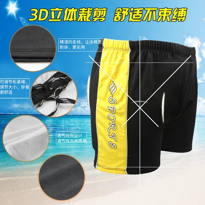 Men Stripes Swimming Trunks-Style Quick-Dry Breathable Boxer Swimming Beach Shorts OPP Bag Swimming Trunks