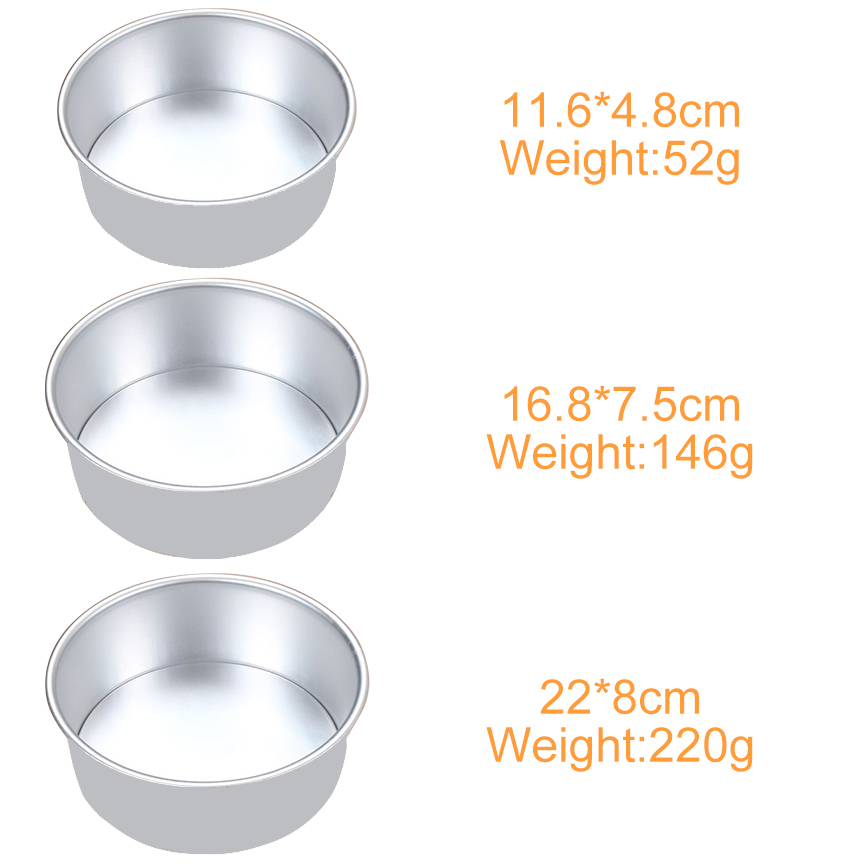 Image 5 - 3 Tiered Round Cake Mold Set Aluminum Alloy Cake Pan Set Non Stick Baking Pans 4/6/8 inch Cakes Mould Removable Bottom       386-in Cake Molds from Home & Garden