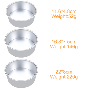 Image 5 - 3 Tiered Round Cake Mold Set Aluminum Alloy Cake Pan Set Non Stick Baking Pans 4/6/8 inch Cakes Mould Removable Bottom       386