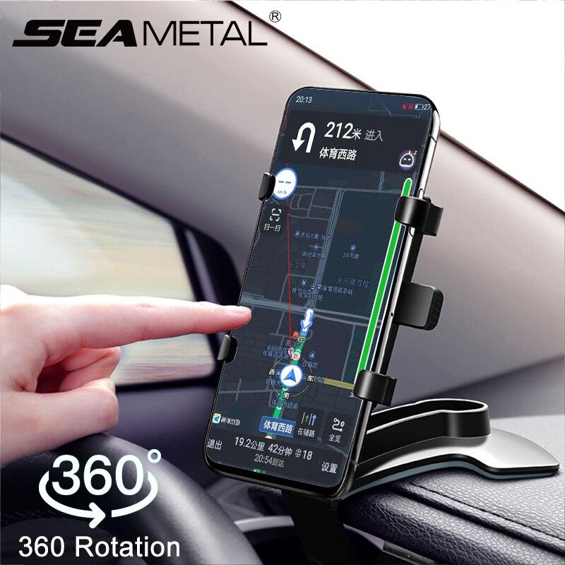 Soporte Universal para teléfono de coche de 360 grados soporte para Smartphone soporte para salpicadero de coche soporte fijo para teléfono móvil con agarre automático