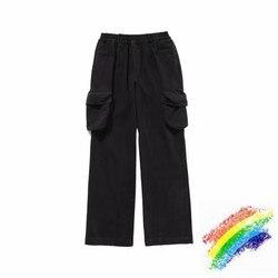 20ss isecret брюки для мужчин и женщин 1:1 Высокое качество Черный isecret бегунов уличная Промытые до старый isecret тренировочные брюки