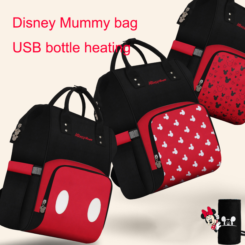 Disney Mickey Baby Diaper Bag For Mommy Bag Travel  Large Capacity Baby Backpack Multifunctional  Nappy Bag Diaper Stroller Bag
