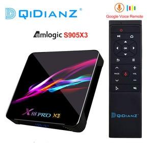 Image 1 - ТВ приставка x88 pro Amlogic S905x3 Android HD 8K ТВ приставка Android 9,0 Смарт ТВ приставка X88Pro X3 PK HK1 приставка X3 X96 AIR H96 MAX X3