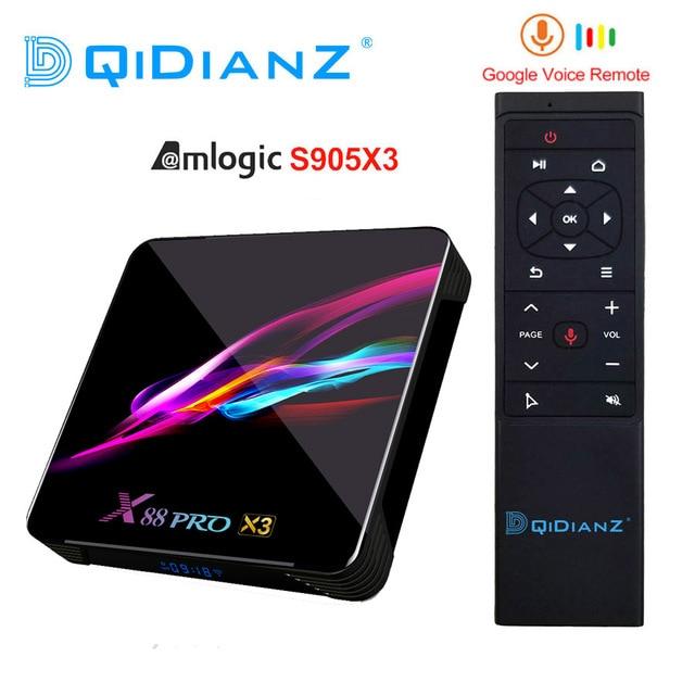 x88 pro Amlogic S905x3 Android TV Box HD 8K TV Box Android 9.0  Smart TV Box  X88Pro X3 PK HK1 BOX X3 X96 AIR H96 MAX X3