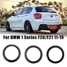 Para bmw série 1 f20/f21 2011-2019 carro traseiro emblema anel logotipo quadro capa decoração guarnição de carbono/fosco/gloss preto