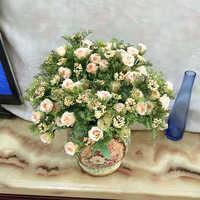 15 Heads Eternal Rose Artificial Decoration Autumn Decoration Artificial Flowers DIY For Wedding Home Christmas Decor Flowers