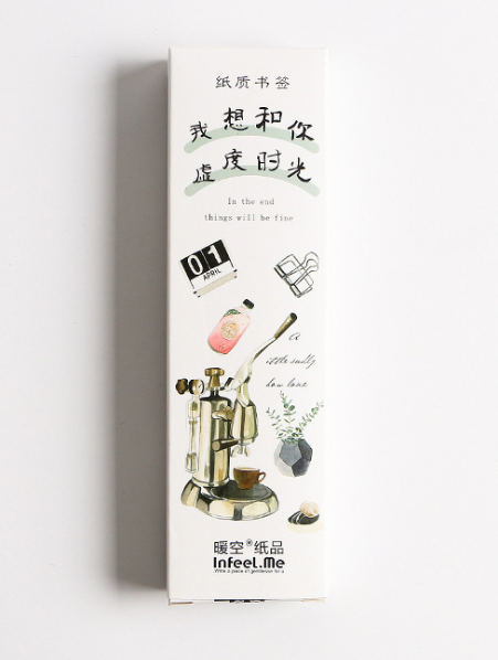 B45- Spend Time Paper Bookmark(1pack=30pieces)