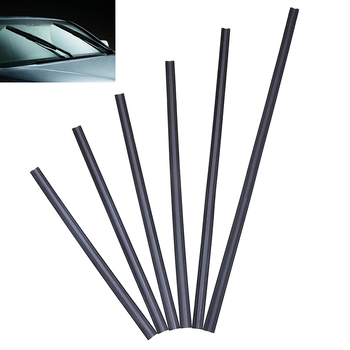 1Pc 17''- 32'' Car SUV Silicone Rubber Universal Frameless Windshield Wiper Wash Blade Refill Soft Replacement image