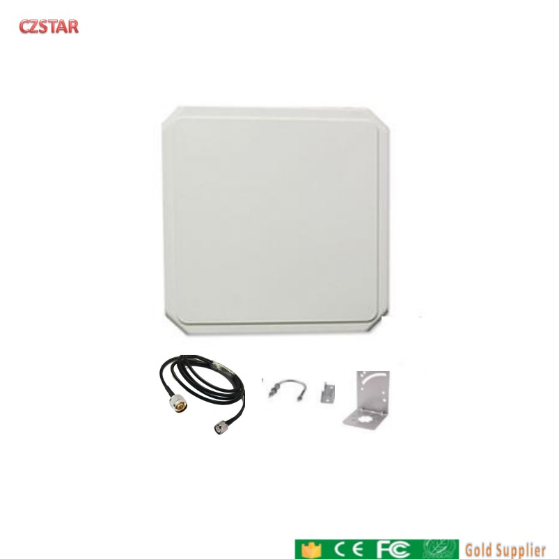 Outdoor Indoor IP65 Waterproof Uhf Rfid Antenna Circular Polarization Long Range 9dBi For Sports Timing System Asset Inventory