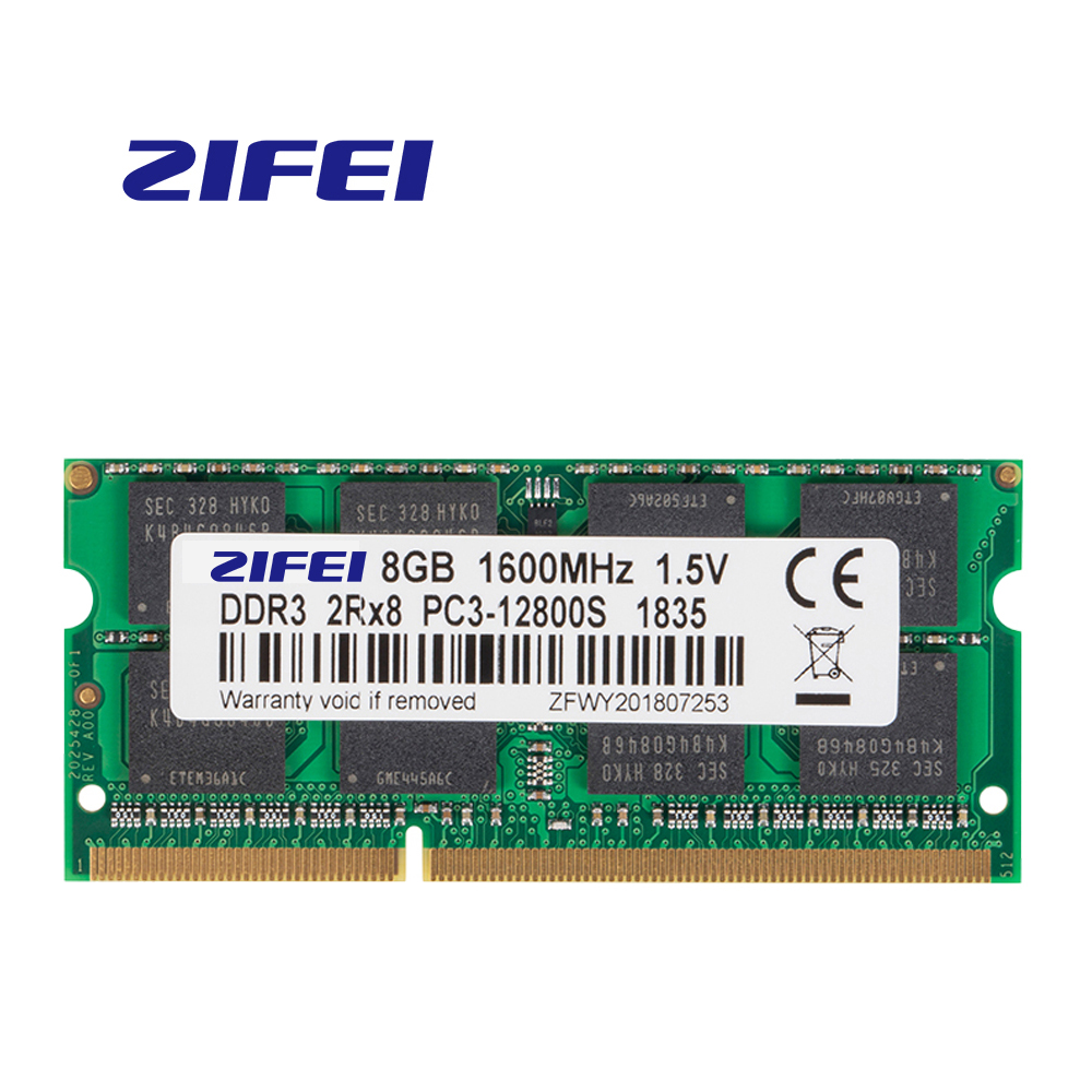 ZiFei <font><b>ram</b></font> <font><b>DDR3</b></font> 2GB 4GB <font><b>8GB</b></font> <font><b>1066MHz</b></font> 1333MHz 1600MHz 204Pin SO-DIMM module Notebook memory for Laptop image