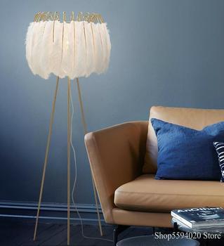 Ins Feather-Lámpara De Pie para sala De estar, moderna y minimalista, creativa,...