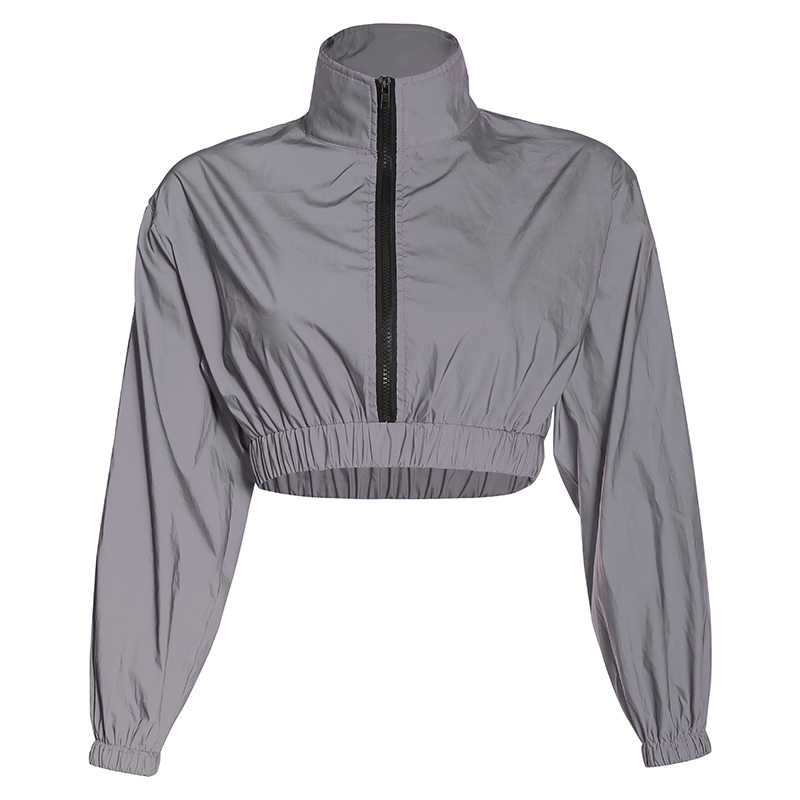 Rockmore הגותית גדול רעיוני נשים מעיל עם שרשרת רוכסן כיסי Loose ארוך Streetwear נשי קצוץ מעילי מעילים
