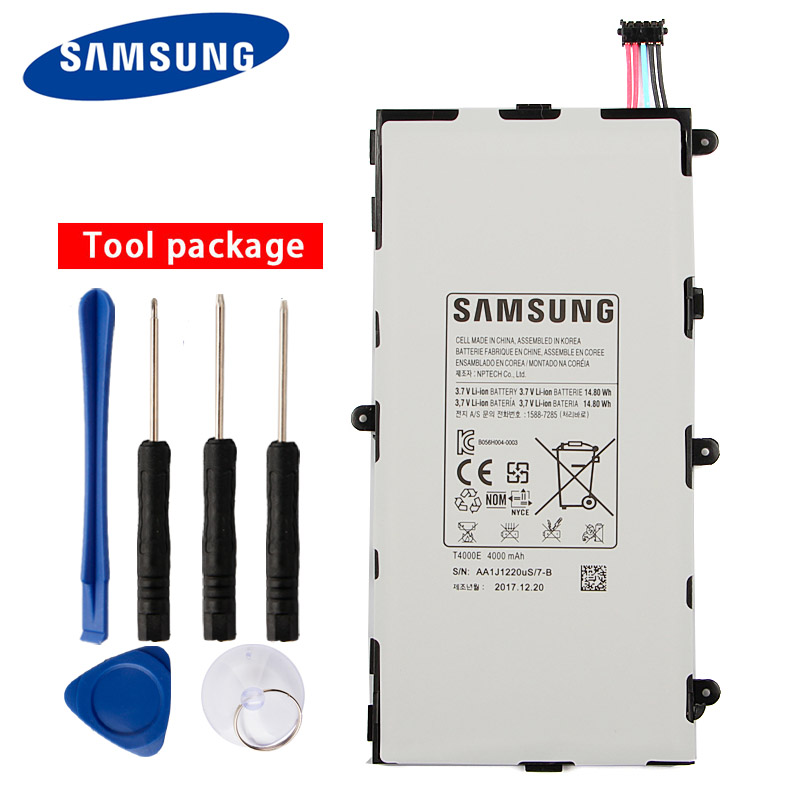 Original Samsung High Quality <font><b>T4000E</b></font> Tablet Battery For Samsung GALAXY T210 Tab3 7.0 T2105 T217a T211 4000mAh image