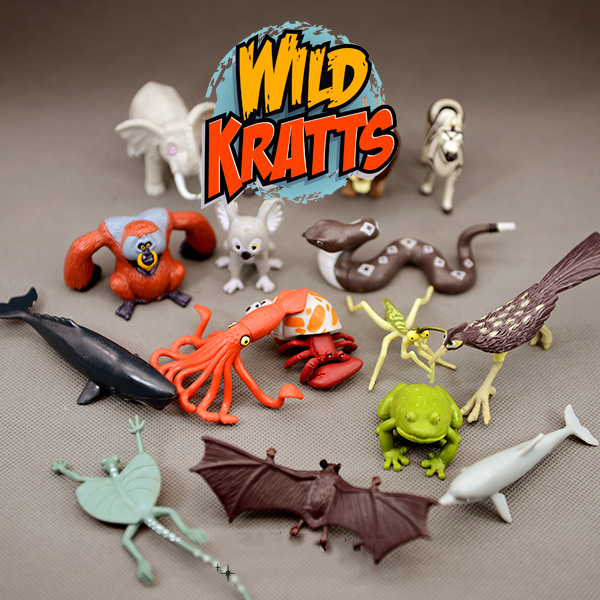 Original Bulks Wild Kratts Animal Koala Bat Lizard Whale Dolphin Hermit Crab Frog Model Figure Figurine Toy Collectible