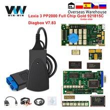 Per Citroen/Peugeot Auto diagnostica Chip completo oro Lexia 3 PP2000 921815C Diagbox V7.83 Lexia3 PP 2000 Scanner OBD OBD2 strumento automatico