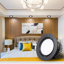 Dimmable LED COB Spotlight Ceiling lamp AC85-265V 5w7w9w12w15w Aluminum recessed downlight round led panel light Indoor lighting