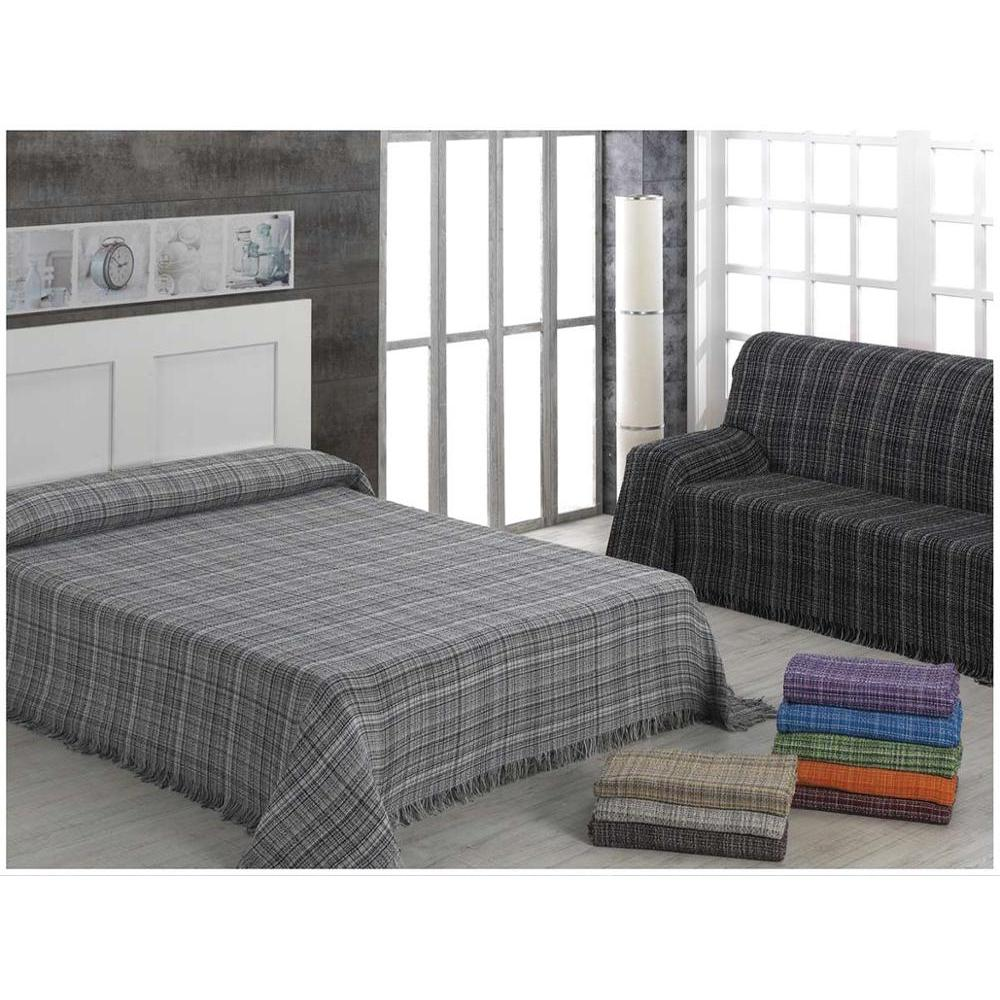 ADP Home-Plaid/Bedspread Multipurpose Heather Ideal For Bed Or Sofa